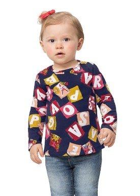 blusa manga longa bebe feminina diversao marinho alenice 41159 1