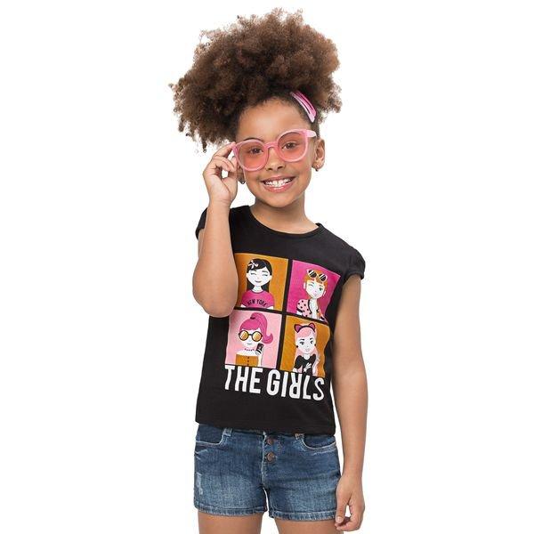 blusa infantil feminina the girls preto alenice 47179 1