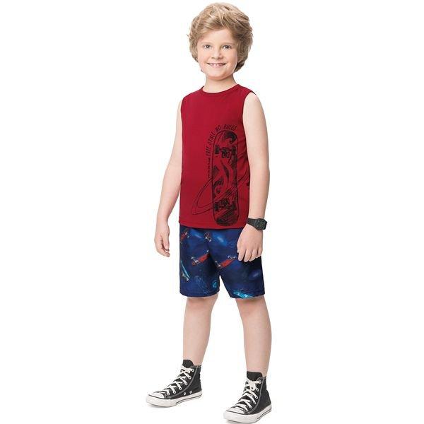 conjunto infantil masculino skate vermelho alenice 47203 1