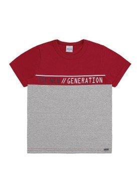 camiseta infantil masculina new generation vermelho alenice 47147