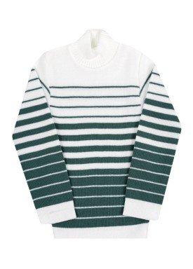 blusa la infantil unissex listras verde remyro 0902
