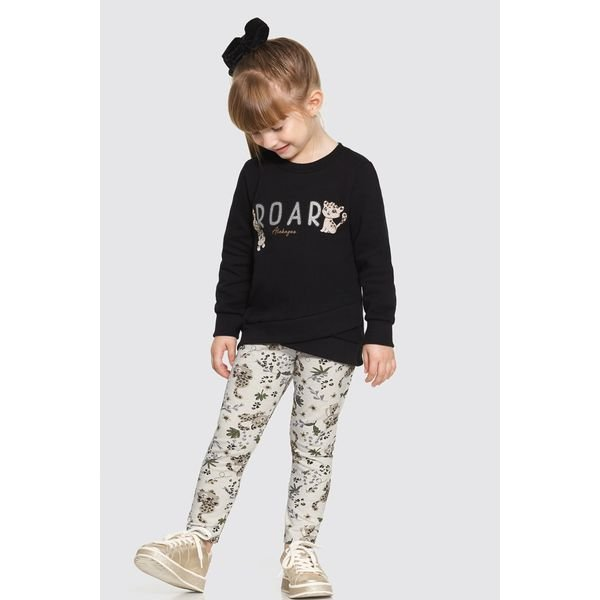 conjunto moletom infantil feminino roar preto alakazoo 62620 1