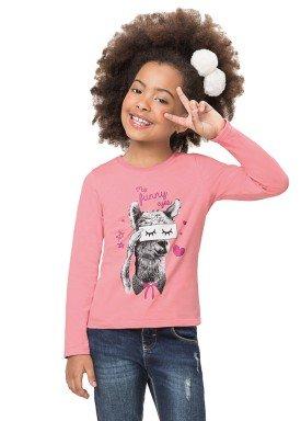 blusa manga longa infantil feminina funny rosa alenice 47170 1