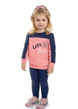 conjunto moletom infantil feminino lets shine marinho marlan 22554 1