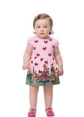vestido bebe infantil feminino safari rosa alenice 41174 1