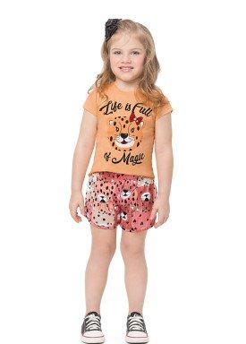 conjunto infantil feminino magic laranja alenice 44553 1