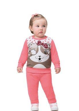 conjunto moletom bebe feminino kitty salmao alenice 41166 1