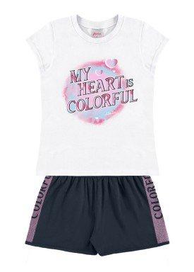 conjunto infantil feminino colorful branco alenice 47206 1