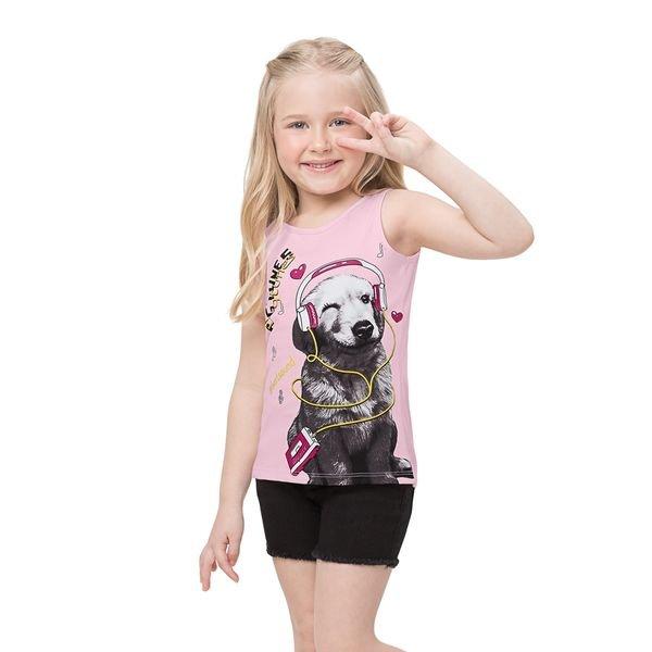 regata infantil feminina dogtunes rosa alenice 47207 1