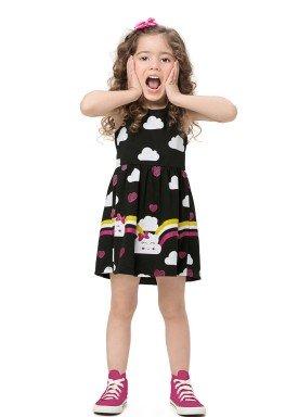 vestido infantil feminino nuvens preto alenice 44555 1
