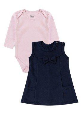 conjunto vestido moletom bebe feminino laco marinho kiiwi kids 1