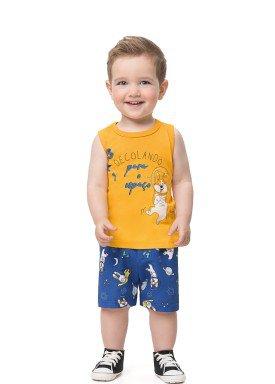 conjunto bebe infantil masculino decolando amarelo alenice 41194 1