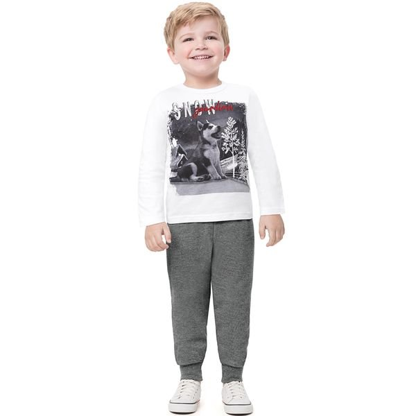 conjunto manga longa infantil masculino snow branco alenice 44470 1