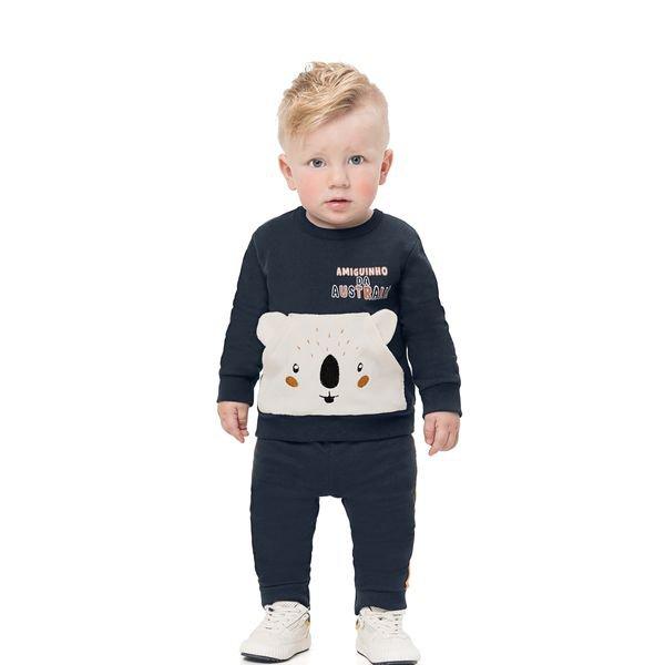 conjunto moletom bebe infantil masculino amiguinho marinho alenice 41152 1