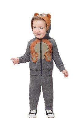 conjunto moletom bebe infantil masculino ursinho mescla alenice 41153 1
