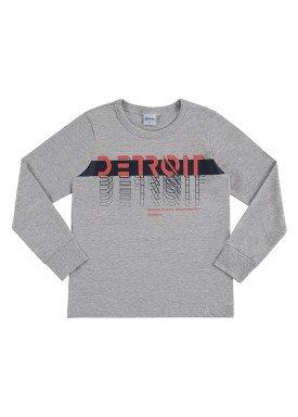 camiseta manga longa infantil masculina detroit mescla alenice 47149