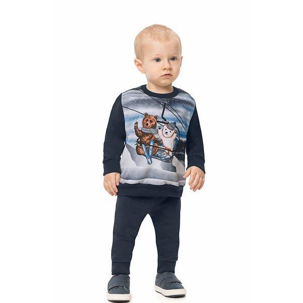 conjunto moletom bebe infantil masculino esqui marinho alenice 41128