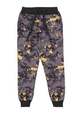 calca moletom infantil masculina estampada preto marlan 24704