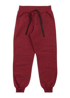calca moletom infantil masculina vermelho marlan 54030