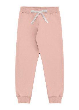 calca moletom infantil feminina rosa marlan 54110