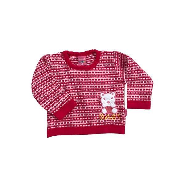 sueter trico bebe feminino pink remyro 1018