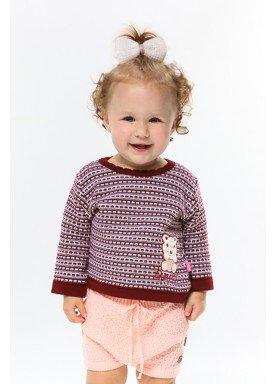 sueter trico bebe feminino vinho remyro 1018 1