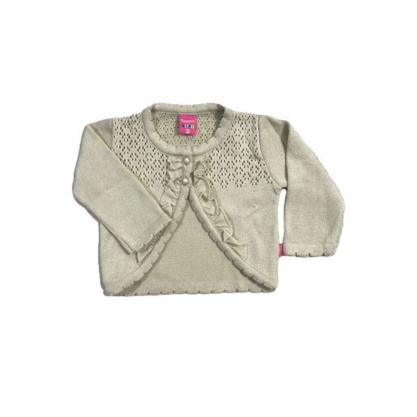 cardiga trico bebe feminino bege remyro 1016 1