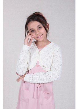 bolero trico bebe feminino branco remyro 1226 1