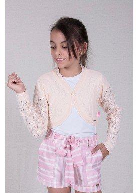 bolero trico bebe feminino salmao remyro 1226 1