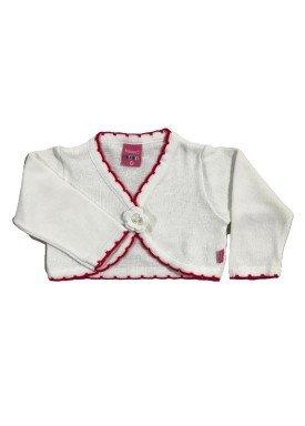 bolero trico bebe feminino branco remyro 1022