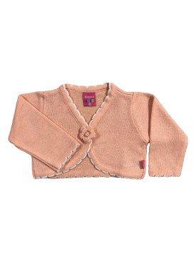 bolero trico bebe feminino salmao remyro 1022