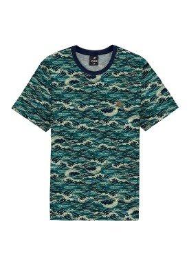 camiseta meia malha estampada juvenil marinho fico 68431