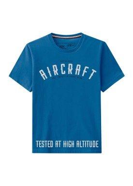 camiseta meia malha juvenil aircraft azul hangar33 70059