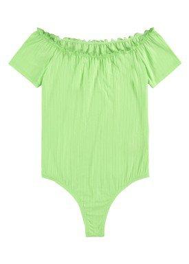 body malha canelada juvenil feminino verde lunender hits 46785 2