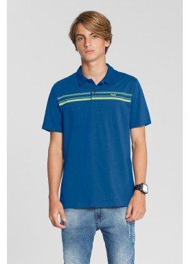camisa polo meia malha juvenil azul fico 48603 1