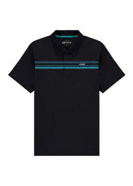camisa polo meia malha juvenil preto fico 48603