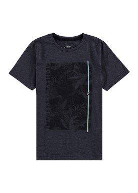 camiseta malha view flex infantil masculina preto fico 48564