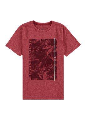 camiseta malha view flex infantil masculina vermelho fico 48564