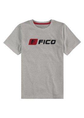 camiseta meia malha infantil masculina mescla fico 48563