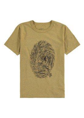 camiseta meia malha infantil masculina surf bege fico 48567