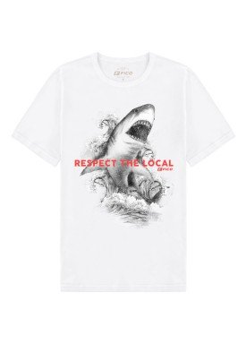 camiseta meia malha juvenil masculina shark branco fico 48594