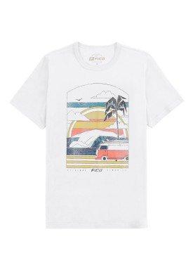 camiseta meia malha juvenil masculina summer branco fico 48592