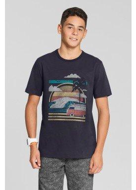 camiseta meia malha juvenil masculina summer cinza fico 48592 1