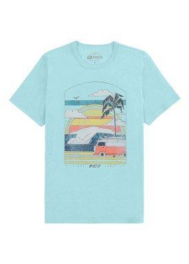 camiseta meia malha juvenil masculina summer verde fico 48592
