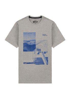 camiseta meia malha juvenil skate park mescla fico 48598