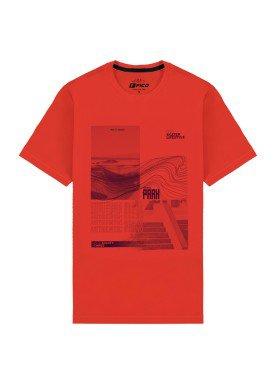 camiseta meia malha juvenil skate park vermelho fico 48598