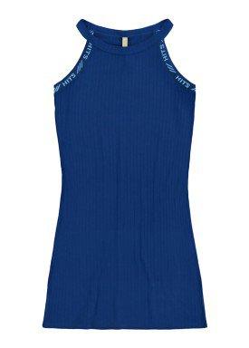 vestido malha canelada juvenil feminino marinho lunender hits 46768