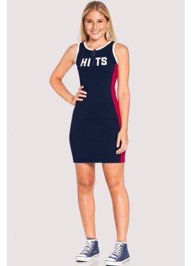 vestido malha cotton thirty juvenil feminino marinho lunender hits 46770 1