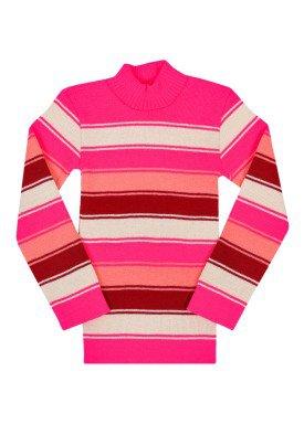 blusa la infantil feminina listrada rosa remyro 0902 1