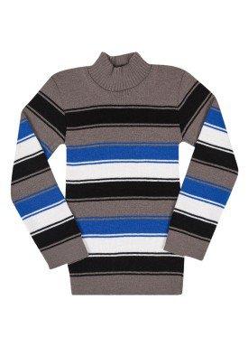 blusao la infantil masculino listrado cinza remyro 0902 1